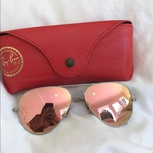 Pink aviator ray bans